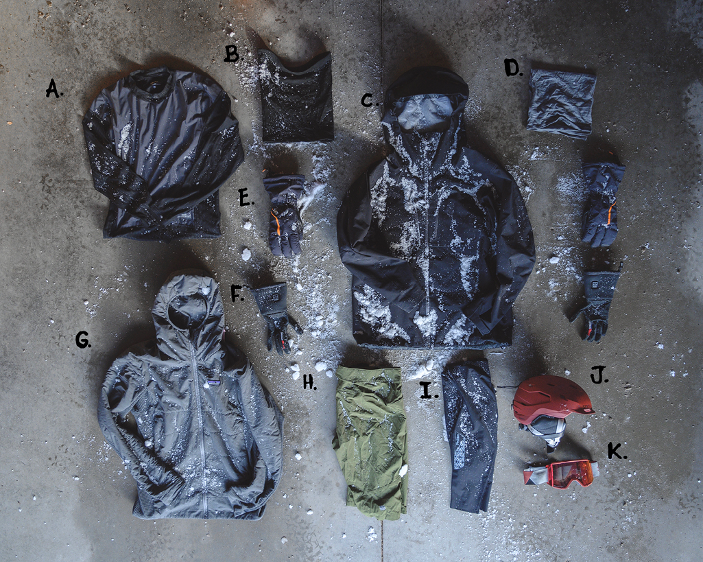 Winter clothing laid out