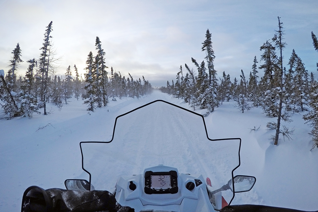 snowmobile POV